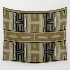 Gold Black Glam ArtDeco X5 Wall Tapestry