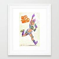 tank girl Framed Art Prints featuring Tank Girl by MATT DEMINO