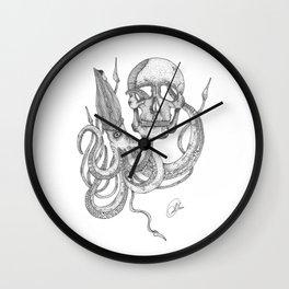 octopus skull Wall Clock