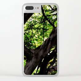 Abstract Tree 602 Clear iPhone Case