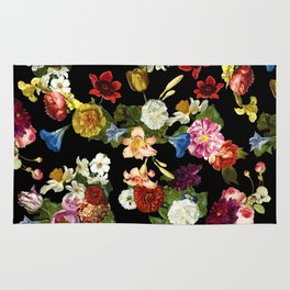 Flowery (black version) Rug