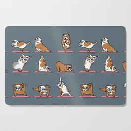 English Bulldog Yoga Cutting Board