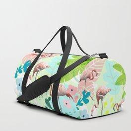 Flamingo jungle Duffle Bag