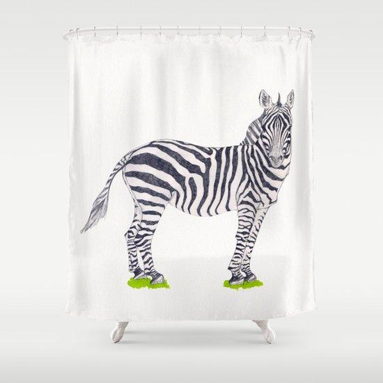 Zebra Sketch Shower Curtain