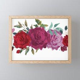 Floral Banner Framed Mini Art Print