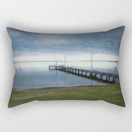 Jetty over Lake King Rectangular Pillow