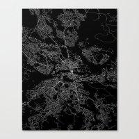 stockholm Canvas Prints featuring Stockholm  by Line Line Lines