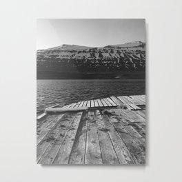 Broken Dock, Iceland Metal Print