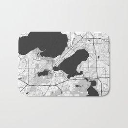 Madison Map Gray Bath Mat