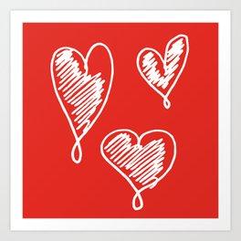 friends hearts Art Print