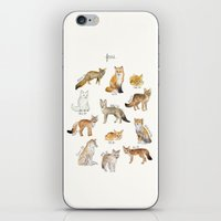 foxes iPhone & iPod Skins featuring Foxes by Amy Hamilton