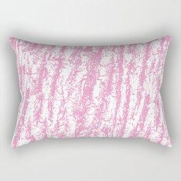 Modern abstract pastel pink white tree bark texture Rectangular Pillow