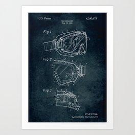 1981 - Ski Goggles patent art Art Print