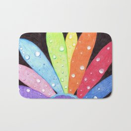 rainbow flower Bath Mat