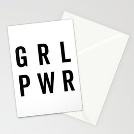 GRL PWR / Girl Power Quote Stationery Cards