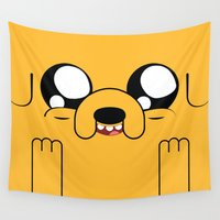 jake Wall Tapestries featuring Adventure - Jake by Alessandro Aru