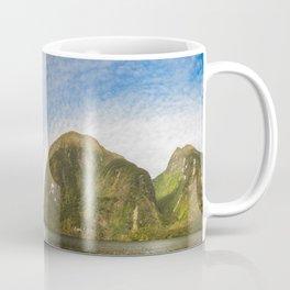 Sunglow over interesting Mountain Range at Doubtful Sound Coffee Mug