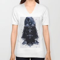 darth vader V-neck T-shirts featuring Darth Vader by qualitypunk