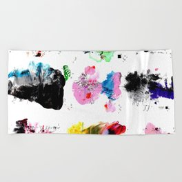 9 abstract rituals (2) Beach Towel