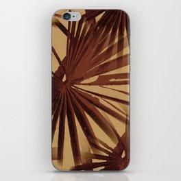Burgundy and Coffee Tropical Beach Palm Vector iPhone Skin