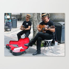 Two Singers Canvas Print