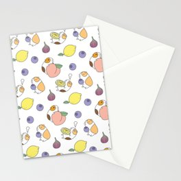 Guinea pig and fruits pattern Stationery Cards