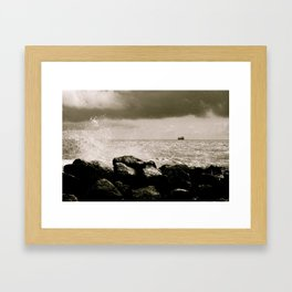 North sea Framed Art Print