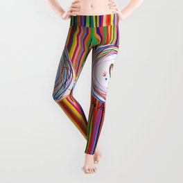 Be Happy | Smile | Stay Child | Kids Painting Leggings