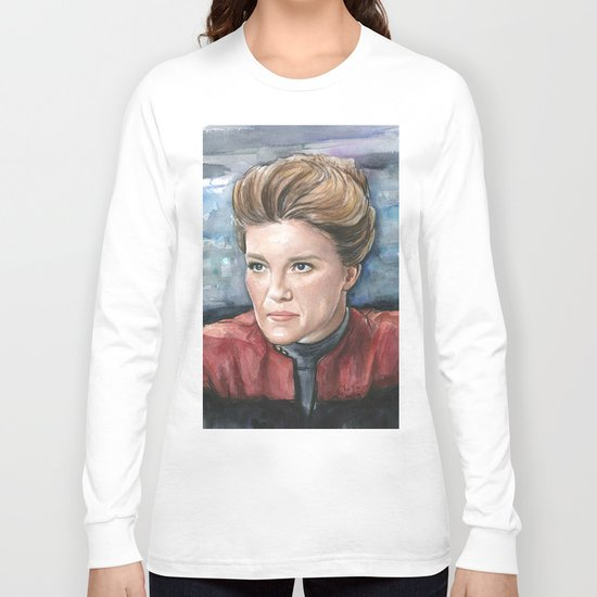 Captain Kathryn Janeway Long Sleeve T-shirt