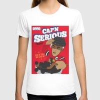 blackhawks T-shirts featuring Cap'n Serious  by Hawk Tawk TV