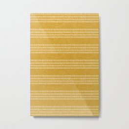 farmhouse stitch - gold Metal Print