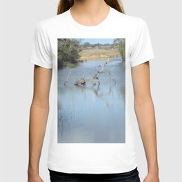 Skeleton Tree In A River T-shirt