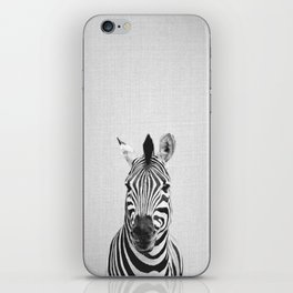 Zebra - Black & White iPhone Skin