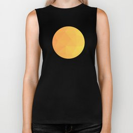 Abstract Geometric Gradient Pattern between Light Orange and Light Yellow Biker Tank