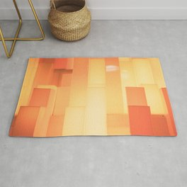 Shades of Orange #3 - Photography Art Rug