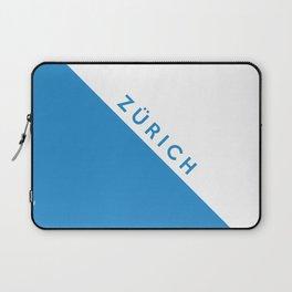 Zurich region switzerland country flag name text swiss Laptop Sleeve