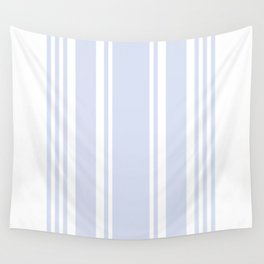 Pale Blue Gray Stripe no.05 Wall Tapestry