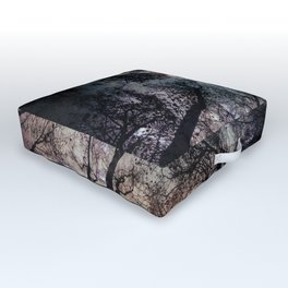 Starry Sky in the Forest Outdoor Floor Cushion