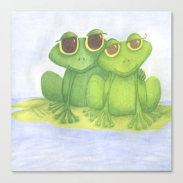 The Frog Lovers  Canvas Print