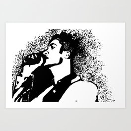 Brendon Urie Profile Art Print