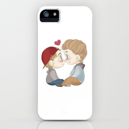 Isak and Even chibi iPhone Case