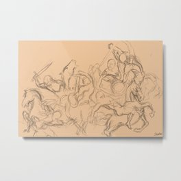 battle sketch Metal Print