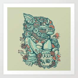 Chinese Guard Dog Art Print