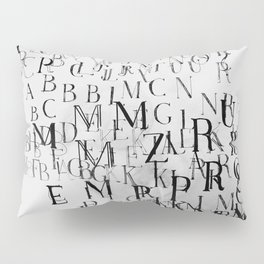Typography and  the Black Hole Pillow Sham