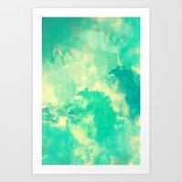 underwater Art Prints featuring Underwater by Galaxy Eyes