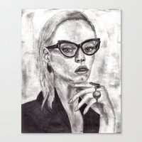 daria Canvas Prints featuring Daria by Yuval Ozery