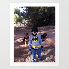 Batboy in the Woods-2 Art Print