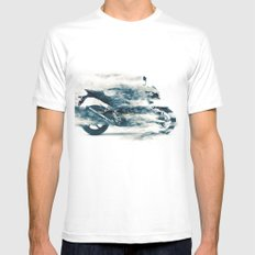 Dynamic motorcycle Mens Fitted Tee MEDIUM White