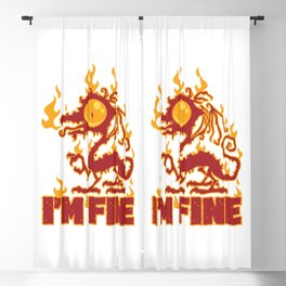 I'm Fine Burning Dragon Blackout Curtain