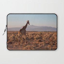 Giraffe admiring the savannah in South Africa Laptop Sleeve